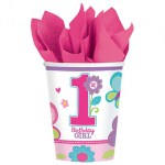 1 jaar birthday girl bekers 266 ml